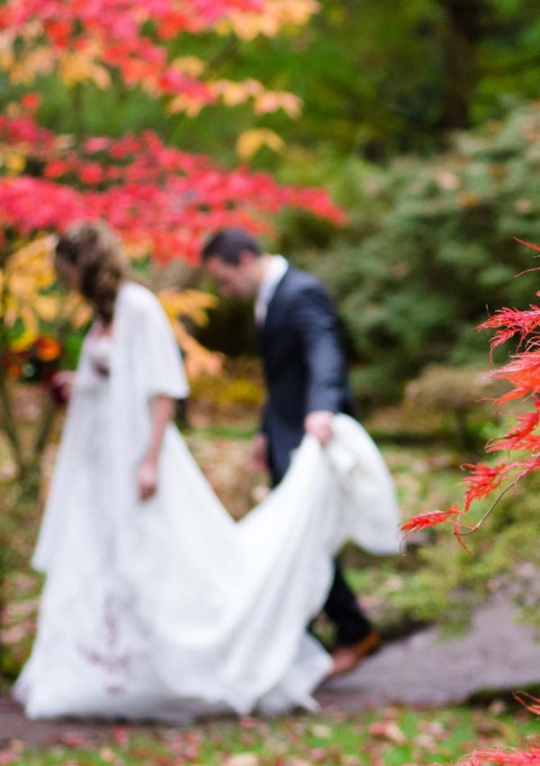 Outdoor Autumn Wedding: Brown, Orange, and Yellow